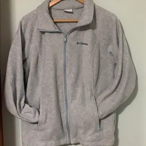 Zip up Columbia sweater